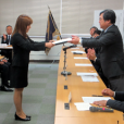 永田奨学生・山岡奨学生・杉林奨学生 証書授与式が執り行われました。
