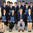 法学部第一種奨学生等の証書授与式が執り行われました。