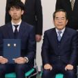 平成28年度日本大学法学部校友会会長賞授与式及び平成28年度日本大学法学部校友会奨学金証書授与式が執り行われました
