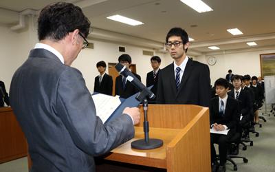 平成30年度法学部永田奨学生・山岡奨学生・杉林奨学生の証書授与式が執り行われました